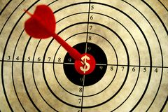 Dollar target Royalty Free Stock Images