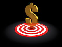 Dollar in target Royalty Free Stock Photo