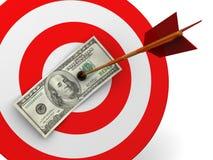 Dollar target hit Stock Image