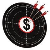 Dollar Target Shows Bucks Cash And Wealth Stock Images