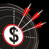Dollar Target Shows Success, Wealth And Income Royalty Free Stock Images