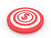 Dollar target. On white background Royalty Free Stock Photo