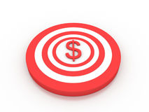 Dollar target. On white background Royalty Free Stock Photography