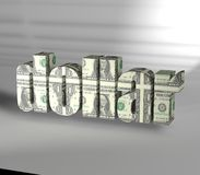 Dollar Text with texture white background Stock Image