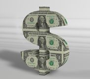 Dollar Text with texture white background. 3d Dollar Text with texture white background for commercial concepts Royalty Free Stock Images