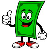 Dollar with Thumbs Up Royalty Free Stock Photos