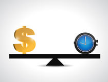 Dollar and time balance. illustration design Stock Images