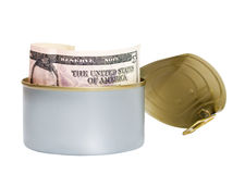 Dollar tinned Stock Image