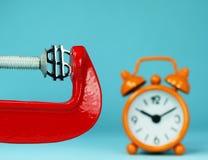 Dollar Tmely-Zerstampfungs- Lizenzfreies Stockfoto