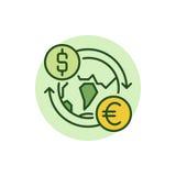 Dollar to Euro convert flat icon Stock Photos