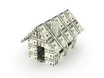Dollar Toy House Royalty Free Stock Image
