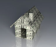 Dollar Toy House Royalty Free Stock Images