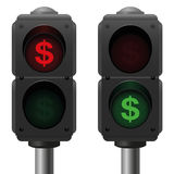 Dollar Traffic Lights Business Royalty Free Stock Photo
