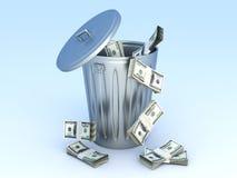Dollar Trash Stock Photography