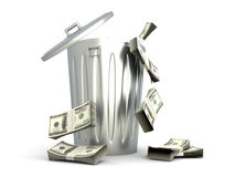 Dollar Trash Stock Image