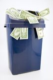 Dollar trash. Stock Photography