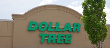 Dollar Tree Sign Stock Photography
