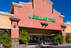 Dollar Tree Store Exterior Royalty Free Stock Photography