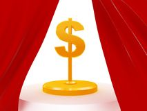Dollar trophy Royalty Free Stock Photo