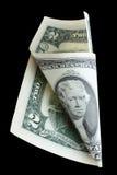 dollar två Arkivbilder