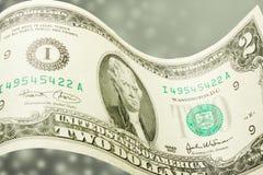 dollar två Fotografering för Bildbyråer
