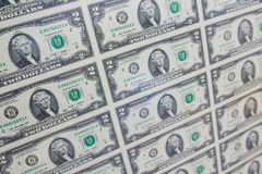 dollar två Arkivfoto
