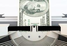 Dollar typewriter Close up Royalty Free Stock Images