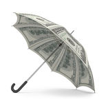 Dollar umbrella Royalty Free Stock Photo