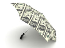 Dollar umbrella Stock Image