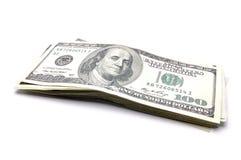 Dollar und andere Währungen auf weißem Hintergrund lizenzfreies stockfoto