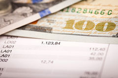 Dollar und Darlehens-Plan Lizenzfreie Stockbilder