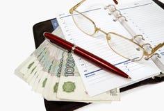 Dollar und das tägliche Protokoll Lizenzfreie Stockbilder