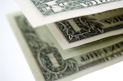 Dollar und es `s Reflexion. Lizenzfreie Stockbilder