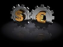 Dollar und Euro vektor abbildung
