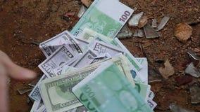 Dollar- und Eurogewinne bitcoin stock video