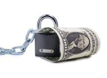 Dollar- und Metallverschluß Lizenzfreie Stockfotos