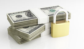 Dollar und Sicherheit Stockfotografie