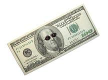 Dollar und Sonnenbrillen Stockbild