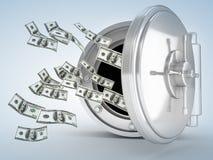Dollar und Tresortür Lizenzfreies Stockbild