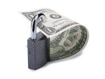 Dollar und Verschluss Stockbilder