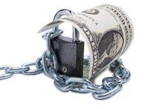 Dollar und Verschluss drei Lizenzfreie Stockfotos
