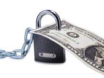 Dollar und Verschluss einer Lizenzfreies Stockfoto