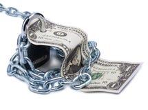 Dollar und Verschluss sechs Stockbilder