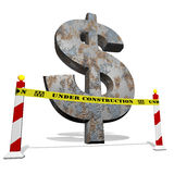 Dollar under construction Royalty Free Stock Photography