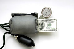 Dollar under the pressure Royalty Free Stock Photography