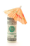 Dollar under an umbrella