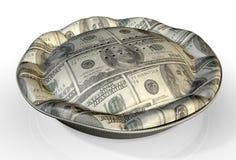 Dollar US de tarte d'argent Photographie stock libre de droits