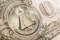 Dollar. US one dollar bill on the back close up Stock Images