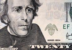 dollar USA för 20 bakgrund Arkivfoton