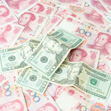Dollar USA,RMB Chinese Stock Images